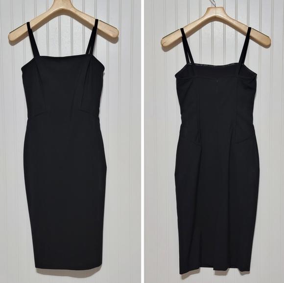 🔴Moschino Coutour spaghetti strap bodycone dress